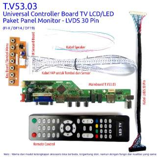 Paket Panel Monitor - Universal Controller Board LCD - LED TV  - USB Multimedia