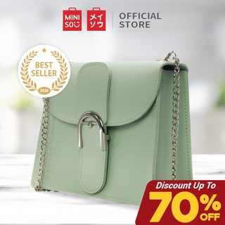 Miniso Official Tas Selempang Wanita Fresh Macaron Buckle Crossbody Bag / Sling Bag / Shoulder Bag