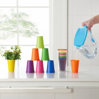 TGB (8 In 1) Gelas Plastik / Rainbow Cup Set