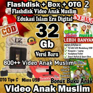 [COD] TERMURAH Flashdisk Video Edukasi Anak Muslim 32GB | Video Anak Islam Terbaru Free OTG+Box+Buku