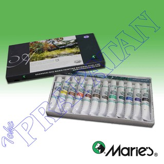 Maries Acrylic Color / cat akrilik set 12 warna