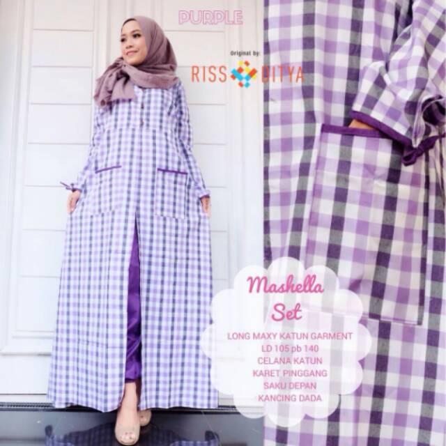 Marshela set purple Rist Ditya fashion busana muslimah