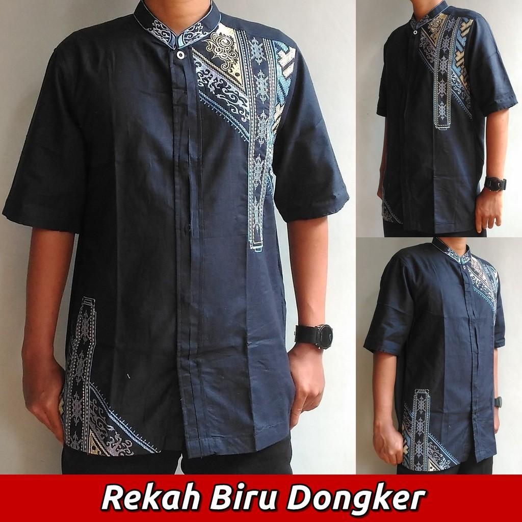 Baju Koko Pria Rekah (9 Varian Warna), Busana Muslim Pria Lengan Pendek