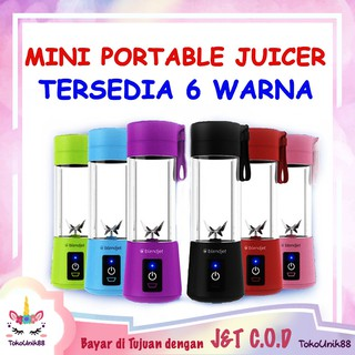 TU88 Mini Portable Blender 4 Mata Pisau Juice USB Mixer Smoothie Alat Buat Jus Charge Rechargeable