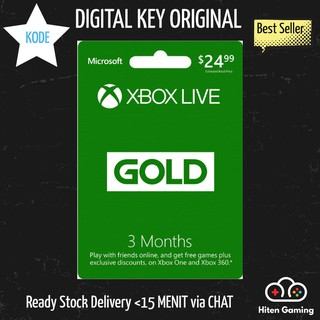 Xbox Live Gold 1/3/12 Month Membership [Global]