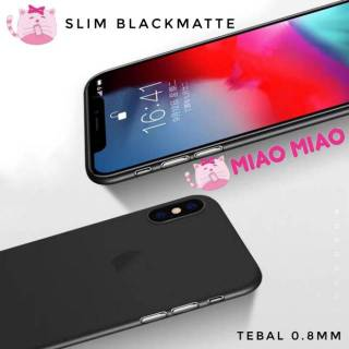 MIAO SLIM BLACK MATTE SOFTCASE SLIM BLACKMATTE FOR XIAOMI SAMSUNG OPPO IPHONE VIVO LENOVO ASUS