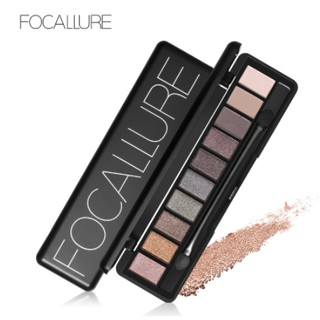 Focallure 10 Colors Eyeshadow Palette Matte Shimmer Natural Make Up Smokey Eye Shadow