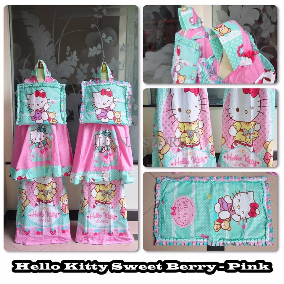 PROMO MUKENA ANAK HELLO KITTY SWEET BERRY PINK S