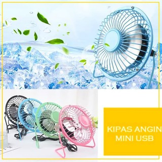 Nagada Kipas / Kipas Angin Mini Usb / Usb Mini Fan / Portable Usb Fan - Merah Muda