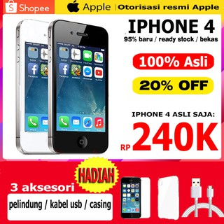 Apple iPhone 4 Original 8GB 16GB 32GB Seperti Tangan