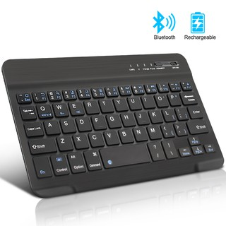 Mini Wireless Bluetooth Keyboard Slim Thin 7'' Design for Windows / Android / iOS / PC