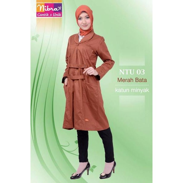 GROSIR Baju Atasan Terbaru Murah Nibras NTu 03 Bata (ORIGINAL) Kemeja Muslim