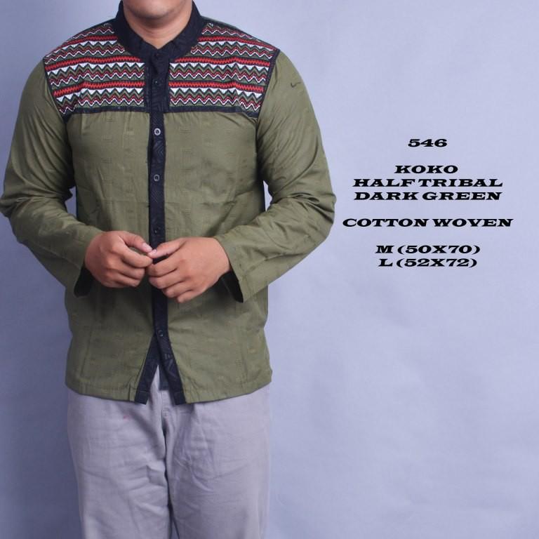 Jual Baju Pria koko panjang hijau Terlaris