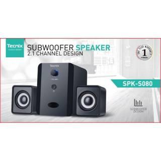 Tecnix SPK-B080 Bluetooth Subwoofer Speaker 2.1 Channel Design