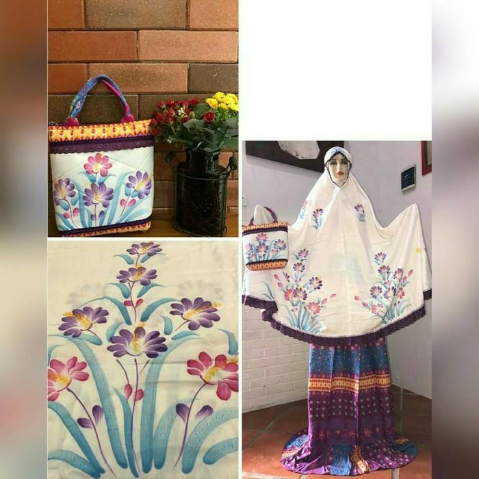 Mukena Lukis Tangan Asli Handmade Batik Ekslusif Elegant
