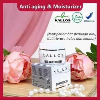 KALLOS DUO NIGHT CREAM ANTI AGING DAN MOISTURIZER