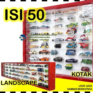 Rak Hot Wheels isi 50 skala 1:64 Hotwheels Hotweel Hot Wells Diecast (rhw50)