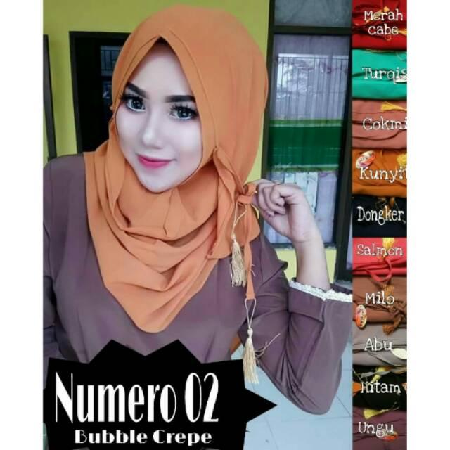 Hijab Kerudung Jilbab Pashmina Instant Numero 02 Murah