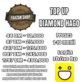 Top Up Diamond Hago Legal (Via Login)