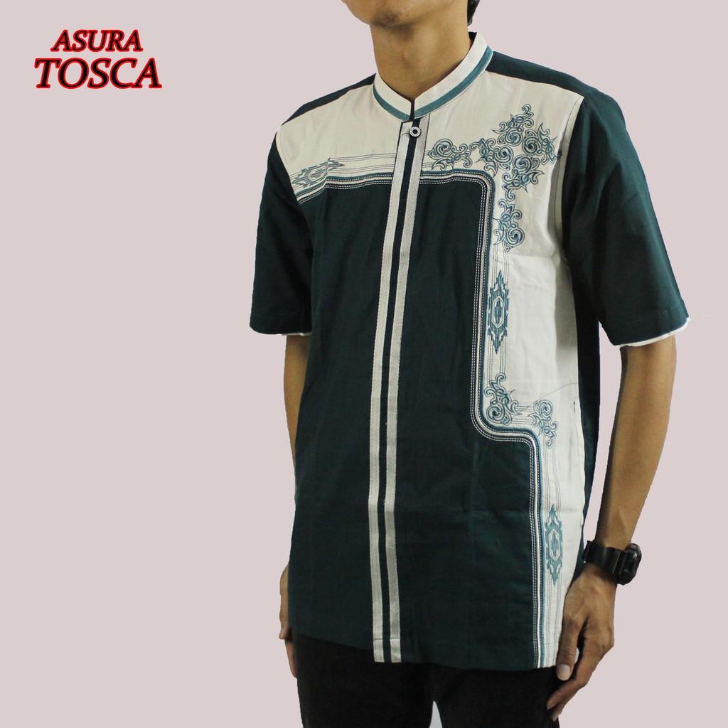 Baju Koko Pria Dewasa Bordir Terbaru – Asura Tosca, Lengan Pendek