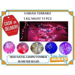 TJM Lampu tumblr 10 Meter 50 LED Kotak Packingan BOX LAMPU LED DEKORASI LED