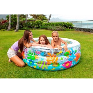 Kolam Renang Anak Aquarium Swimming Pool 1.52mx56cm - INTEX #58480