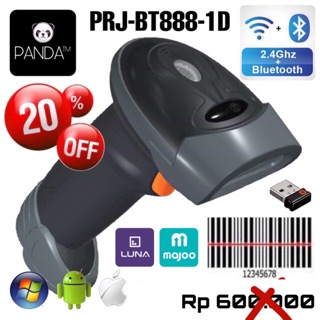 Wireless Bluetooth 1D Laser Barcode Scanner PANDA PRJ-BT393 for Android & IOS