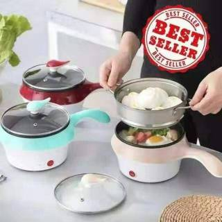 Kukus Plus Goreng Panci Elektrik Travel Multifungsi Alat Masak Electrick Frying