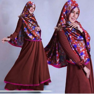promo syari / syari bahan katun / baju muslim syari / bergo satin