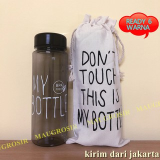 1 KILO ISI 10PCS MY BOTTLE BENING WARNA / Botol Minum MY BOTTLE + Pouch