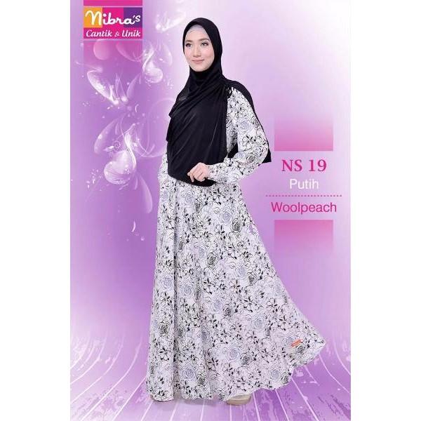 NEW Gamis Nibras Murah Nibras NS 19 Putih (ORIGINAL) Baju Baju Gamis