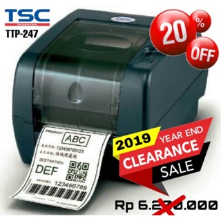 TSC TTP 247 BARCODE LABEL STICKER PRINTER THERMAL TRANSFER/DIRECT THERMAL 203 DPI
