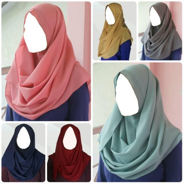 Hijab/Jilbab Pashmina Instan Shafaa _ (Kerudung)