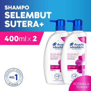 Head & Shoulders Shampoo Smooth & Silky 400ml Paket Isi 2 [P&G]