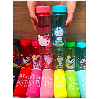 TERBARU My Bottle Gambar KARAKTER Pouch Busa BPA FREE / Botol Anak Hello Kitty Doraemon Pony Unicorn
