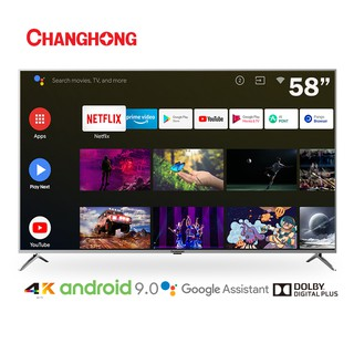 【BELI TV GRATIS TV】Changhong 58 Inch 4K UHD Android 9.0 Smart TV Netflix LED TV (Model:U58H7A)-55