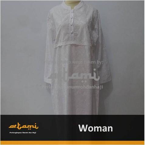 Beranda Pakaian Baju Muslim Baju Gamis Ihrom Wanita Berfuring