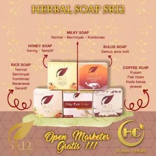 (Muka+Badan) SR12 Herbal Soap / Sabun Herbal SR12 SkinCare SR 12 Skin Care