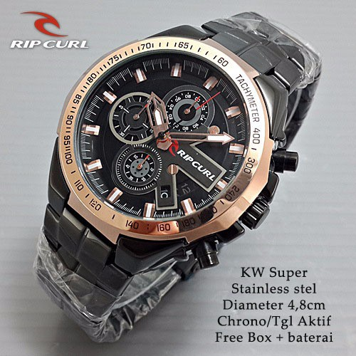 MURAH BERKUALITAS Ripcurl Quarter Chrono On Black Gold