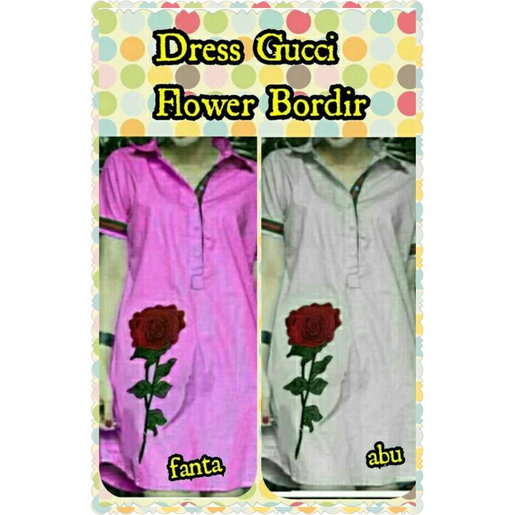 Dress Gucci Flower Bordir