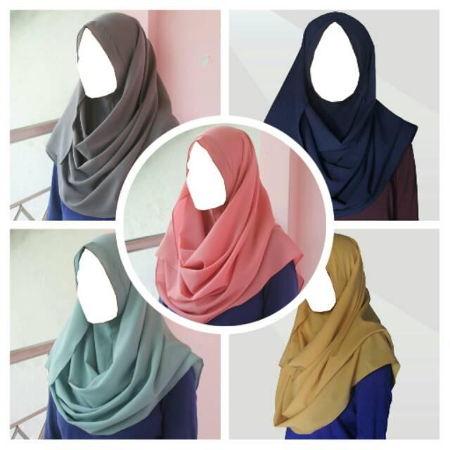 Hijab/Jilbab/Kerudung Pashmina Instant Shafaa