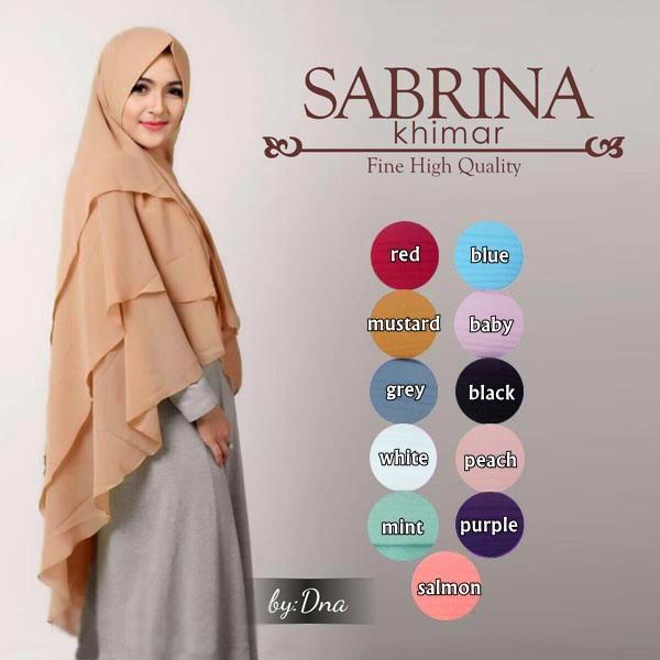 Jilbab/Hijab Syari Khimar Sabrina KAZO
