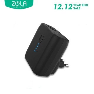 ZOLA Power Duo 5000mAh Powerbank Dan Charger 2 Output Fast Charge 2.4A