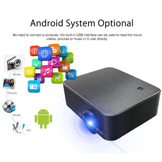 Wejoy L6+ projector/ Proyektor with Android7 Flashdisk/Wifi/Youtube/BT/HDMI/1080P/4K 4000 lumens