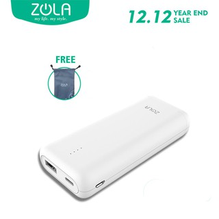 ZOLA GENIUS Powerbank 10400mAh Fast Charging 2.1A, Teknologi Nano Cell, Super Mini Size