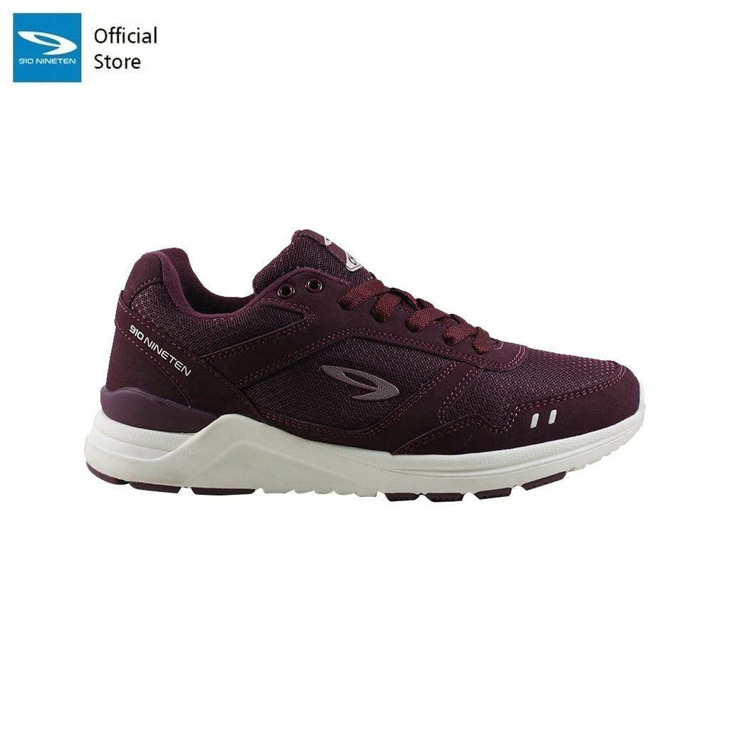 910 Nineten CHIRU 1.5 Sepatu Running for Women Burgundi/Putih Gading