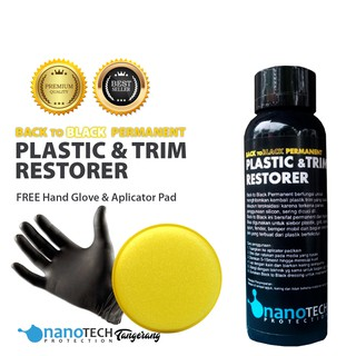 BEST Seller Back To Black Permanent Plastic Trim Restorer
