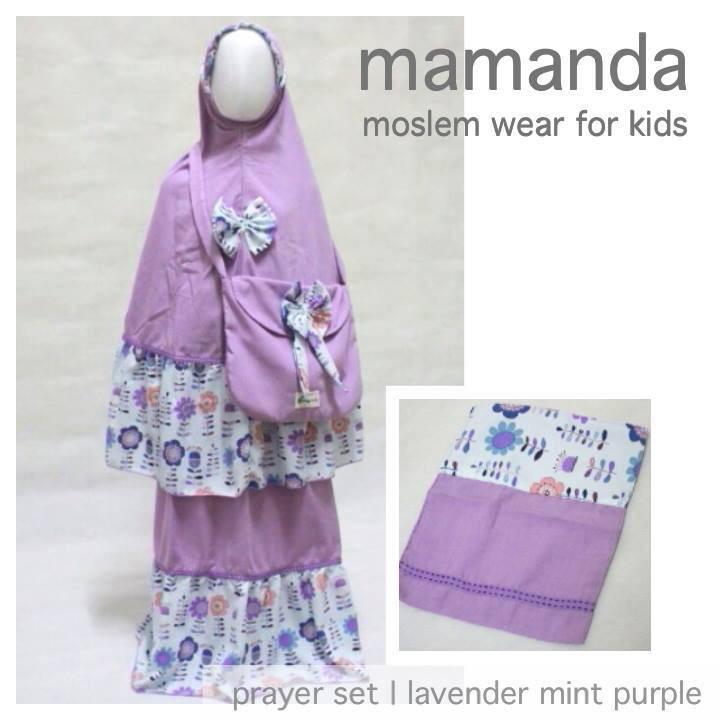 Mukena Anak Katun Purple