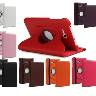 DISCOUNT... Rotating Case Samsung Galalxy Tab 3 v T116 Stand Leather case - Merah Limited .. Harga T