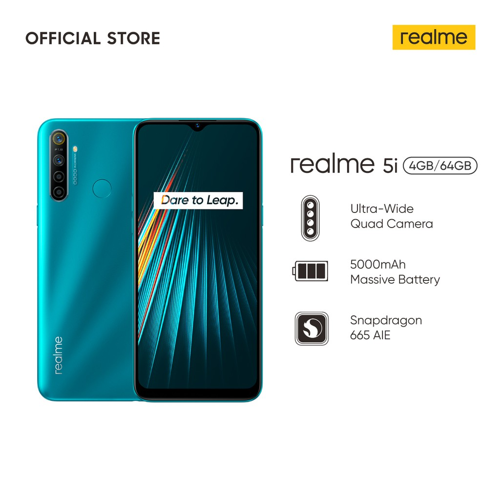realme 5i 4/64GB [5000mAh Massive Battery, 24MP AI Quad Camera, Snapdragon 665 AIE, Dual SIM Card] #1